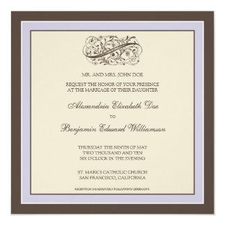 Simply Elegant Wedding Invitation (lilac)
