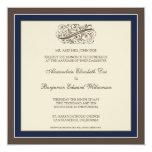 Simply Elegant Wedding Invitation (navy blue) 13 Cm X 13 Cm Square Invitation Card