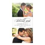 Simply Elegant Wedding Thank You - White Customized Photo Card
