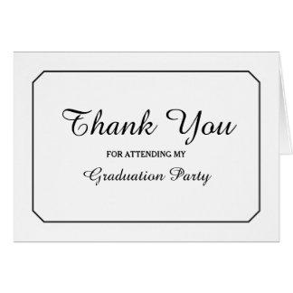 Simply Elegant White Graduation Thank You Greeting Card
