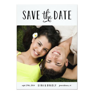 Simply Engaged photo save the date card 13 Cm X 18 Cm Invitation Card