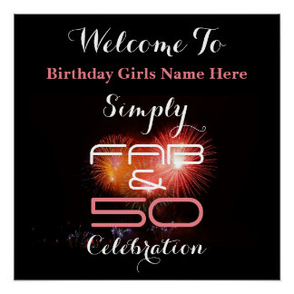 Simply Fab & 50 Woman's Birthday - Poster