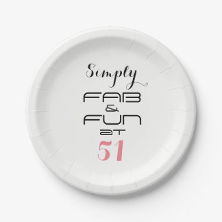 Simply FAB & FUN at 51 - Paper Plate