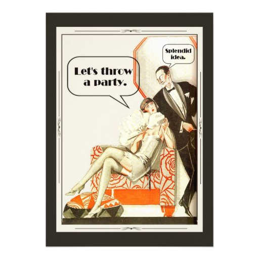 Simply Fabulous Art Deco Party Personalized Invitation