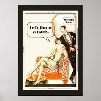Simply Fabulous Vintage 1920s Art Deco Party Poster