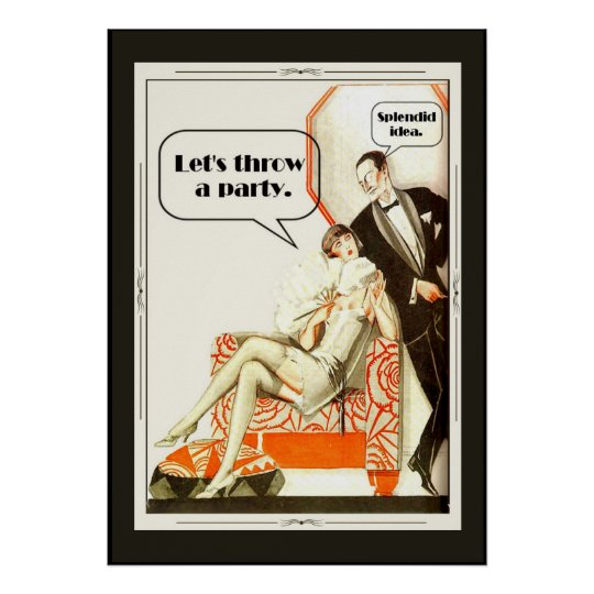 Simply Fabulous Vintage 1920s Art Deco Party Poster