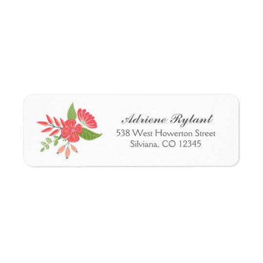 Simply Floral Return Address Label