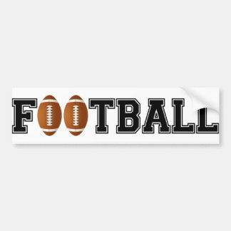 Simply Football Bumper Sticker