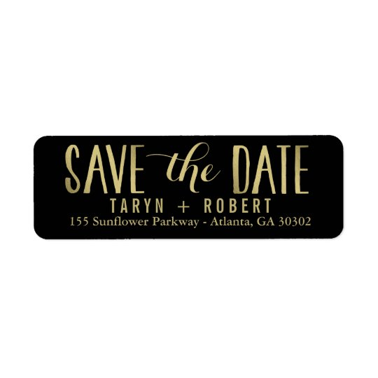 Simply Forever EDITABLE COLOR Save The Date Label Return Address Label