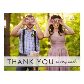 Simply Fun Wedding Thank You Postcard
