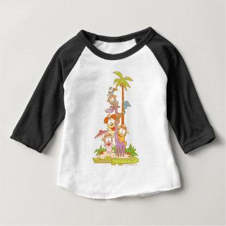 Simply Garfield and Friends Riding a Giraffe Baby T-Shirt