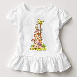Simply Garfield and Friends Riding a Giraffe Toddler T-Shirt