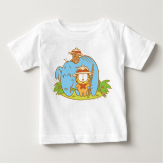 Simply Garfield and Pooky with a Blue Elephant Baby T-Shirt