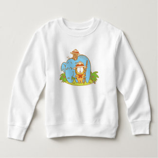 Simply Garfield and Pooky with a Blue Elephant Sweatshirt