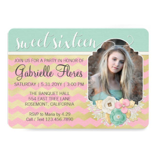 Simply Glam Sweet 16 Birthday Party Invitation