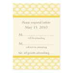 Simply Glamourous RSVP Card, Saffron Yellow Pack Of Chubby Business Cards
