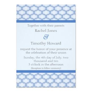 Simply Glamourous Wedding Invite, Cornflower Blue 13 Cm X 18 Cm Invitation Card
