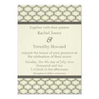 Simply Glamourous Wedding Invite, Espresso & Beige 13 Cm X 18 Cm Invitation Card