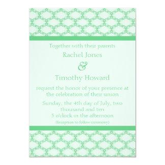 Simply Glamourous Wedding Invite, Kelly Green 13 Cm X 18 Cm Invitation Card