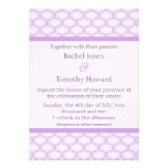 Simply Glamourous Wedding Invite, Lavender