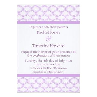 Simply Glamourous Wedding Invite, Lavender 13 Cm X 18 Cm Invitation Card