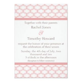 Simply Glamourous Wedding Invite, Light Pink 13 Cm X 18 Cm Invitation Card
