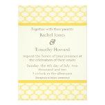 Simply Glamourous Wedding Invite, Saffron Yellow