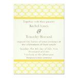 Simply Glamourous Wedding Invite, Saffron Yellow 13 Cm X 18 Cm Invitation Card