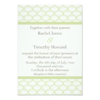 Simply Glamourous Wedding Invite, Sage Green 13 Cm X 18 Cm Invitation Card