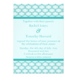 Simply Glamourous Wedding Invite, Turquoise