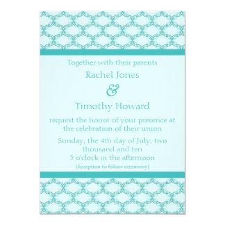 Simply Glamourous Wedding Invite, Turquoise 13 Cm X 18 Cm Invitation Card