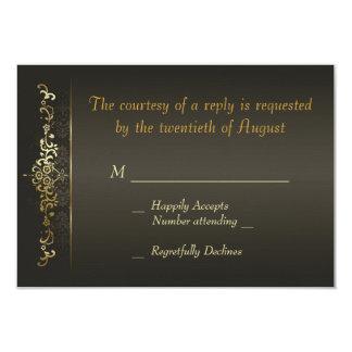 Simply Gold 9 Cm X 13 Cm Invitation Card