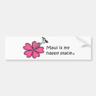 Simply Happy On Maui Bumper Sticker