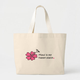 Simply Happy on Maui Large Tote Bag