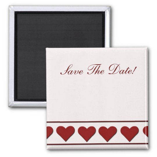 Simply hearts square magnet
