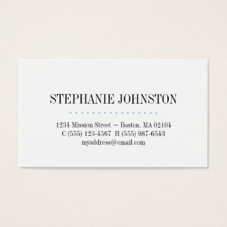 Simply high fashion blue stripe personal calling business card