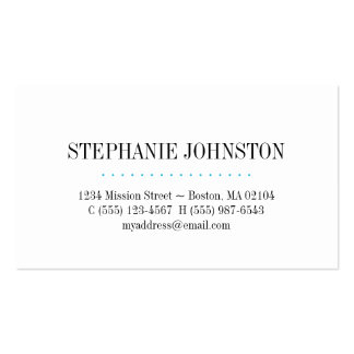 Simply high fashion blue stripe personal calling pack of standard business cards