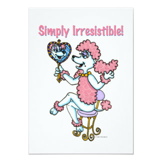 Simply Irresistible Pink Poodle Invitation