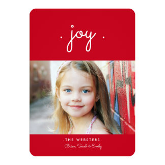 Simply Joy Holiday Photo Card | Red