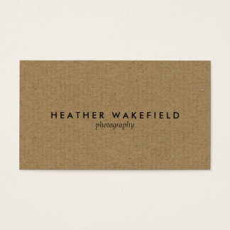 Simply Kraft Calling Card