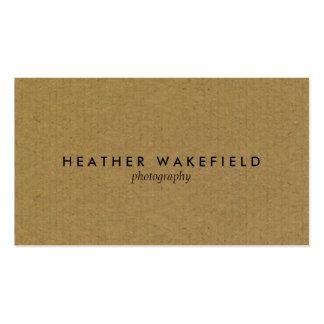 Simply Kraft Calling Card Business Card Template