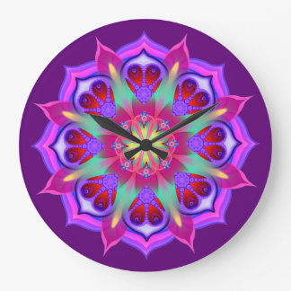 Simply Love 4 Mandala Large Clock