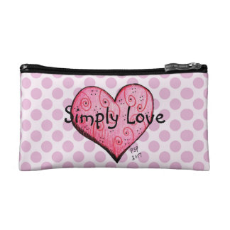 Simply Love Little Pink Heart Cosmetic Bag