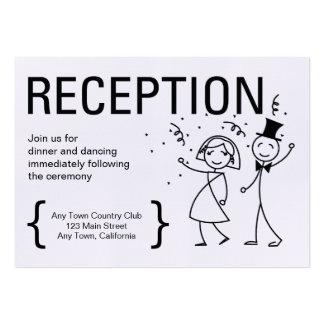 Simply Love Wedding Reception Card Business Card