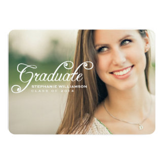Simply Lovely Photo Graduation Party Invitation