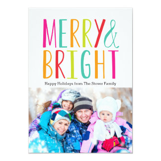 Simply Merry & Bright Holiday Photo Cards 13 Cm X 18 Cm Invitation Card