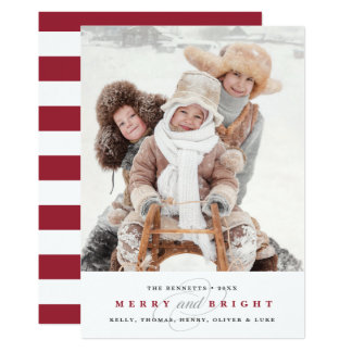 Simply Merry Cranberry | Two Photo Holiday 13 Cm X 18 Cm Invitation Card
