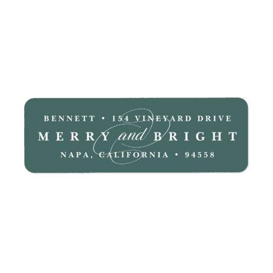 Simply Merry Spruce | Holiday Return Address Label