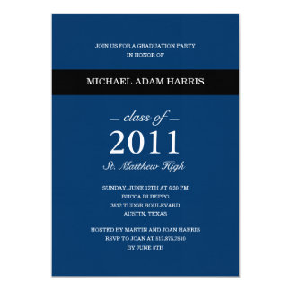 Simply Modern Graduation Party Invitation (Navy)