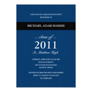 Simply Modern Graduation Party Invitation (Navy)